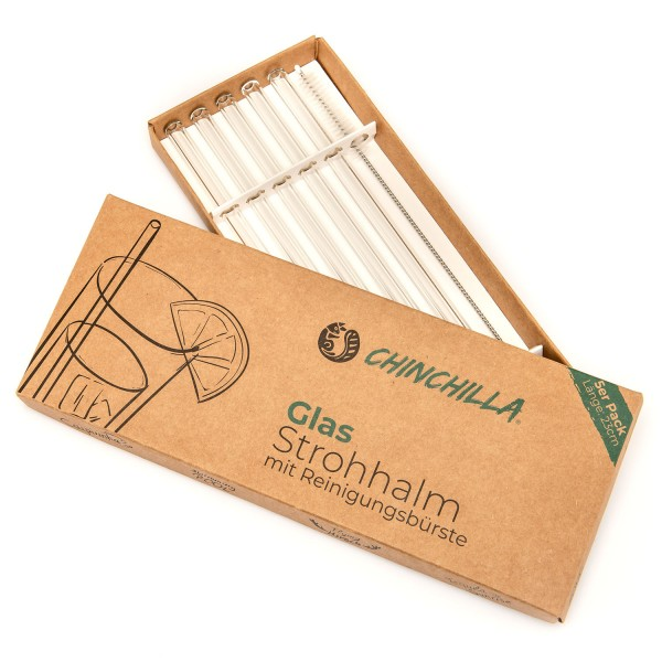 Chinchilla Glastrinkhalme 23 cm