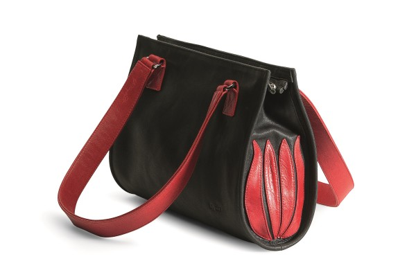 "Handtasche ""Black and Red Tulip"""