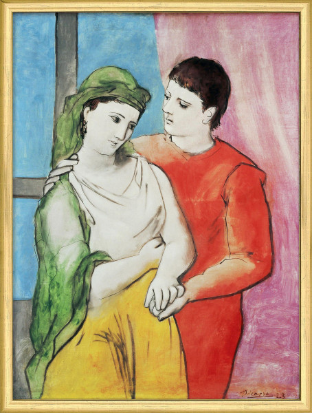 "Pablo Picasso: Bild ""The Lovers"" (1923), gerahmt"
