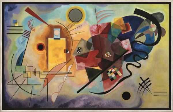 "Wassily Kandinsky: Bild ""Gelb - Rot - Blau"" (1925), gerahmt"