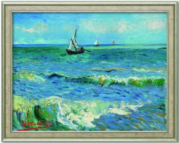 "Vincent van Gogh: Bild ""Das Meer bei Les Saintes-Maries-de-la-Mer"" (Silber gerahmt)"
