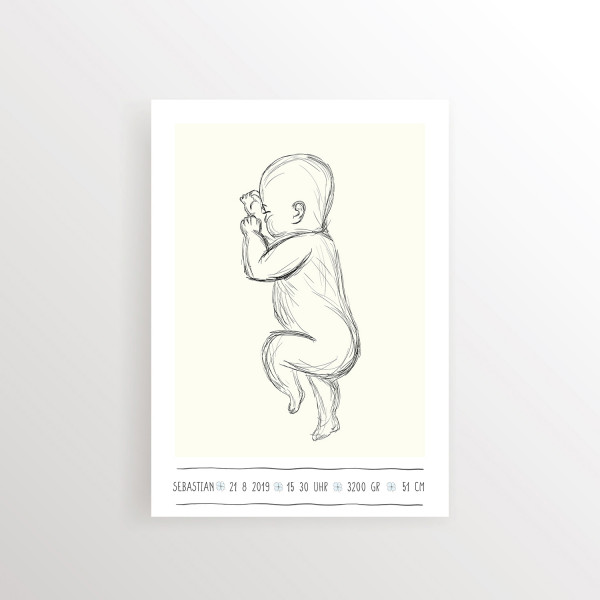 Babyposter Silhouette