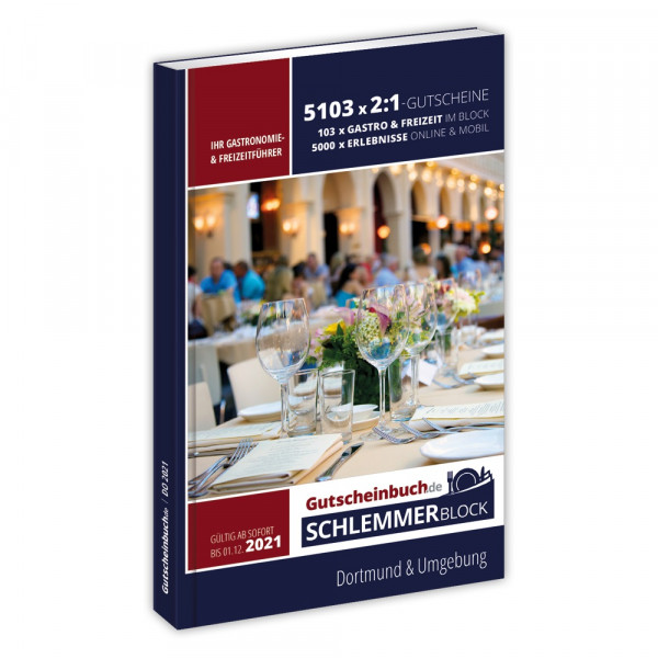 Gutscheinbuch.de Schlemmerblock Dortmund 2021