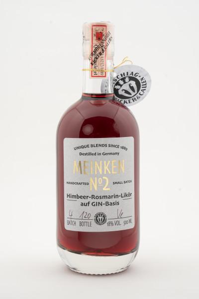 Meinken No.2 - Himbeer-Rosmarin-Likör auf GIN-Basis inkl. Glas