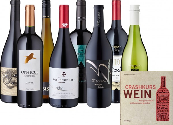 "Weinpaket ""Best of Winter 2017"" inkl. Crashkurs Wein Buch"