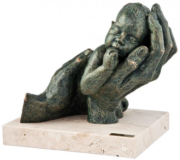 """Angeles Anglada: Skulptur """"Erste Träume"""", Kunstguss Steinoptik"""