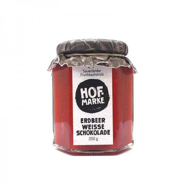 """""""Hofmarke"""" Erdbeerfruchtaufstrich mit weißer Schokolade - Fruchtaufstrich"""