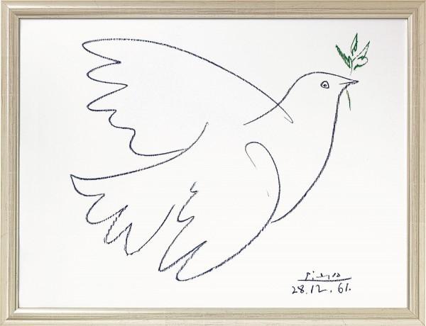 """Pablo Picasso: Bild """"Friedenstaube"""" (1961), gerahmt"""