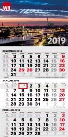 Dreimonatskalender WR 2019