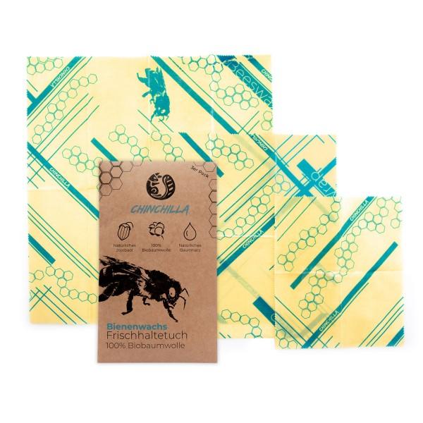 Chinchilla 3er-Pack Bienenwachstücher