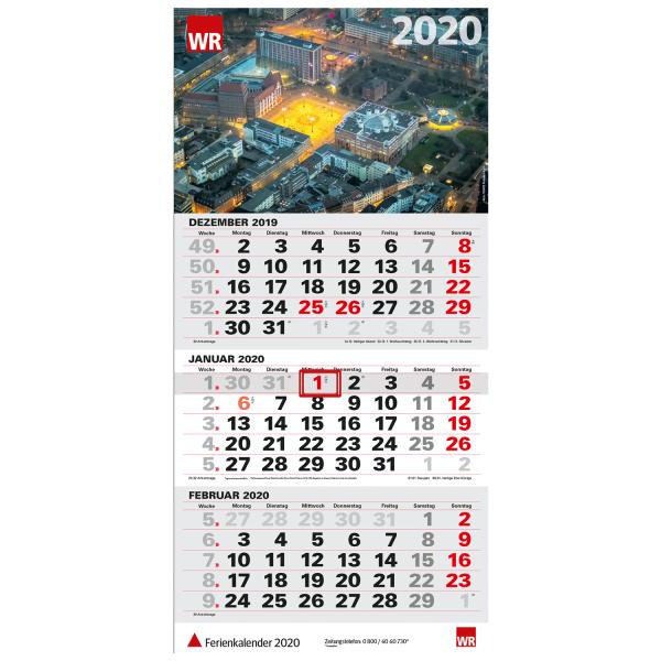 WR Dreimonatskalender 2020