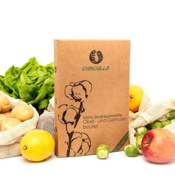 Chinchilla Obst- und Gemüsenetze inkl. Brotbeutel