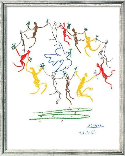 """Pablo Picasso: Bild """"Der Reigen"""" (1961), gerahmt"""