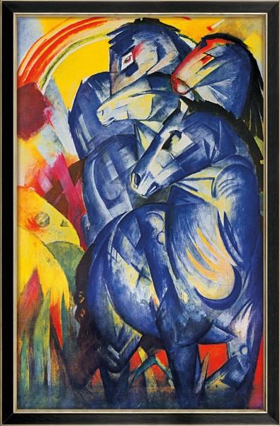 """Franz Marc: Bild """"Turm der blauen Pferde"""" (1913), gerahmt"""