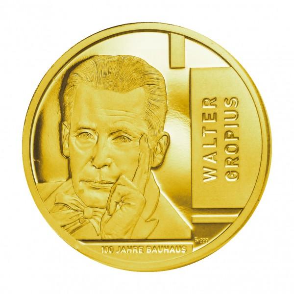 Sonderprägung 100 Jahre Bauhaus - gold