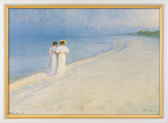 """Peder Severin Kroyer: """"Sommerabend bei Skagen - Der Strandspaziergang"""" (1893)"""